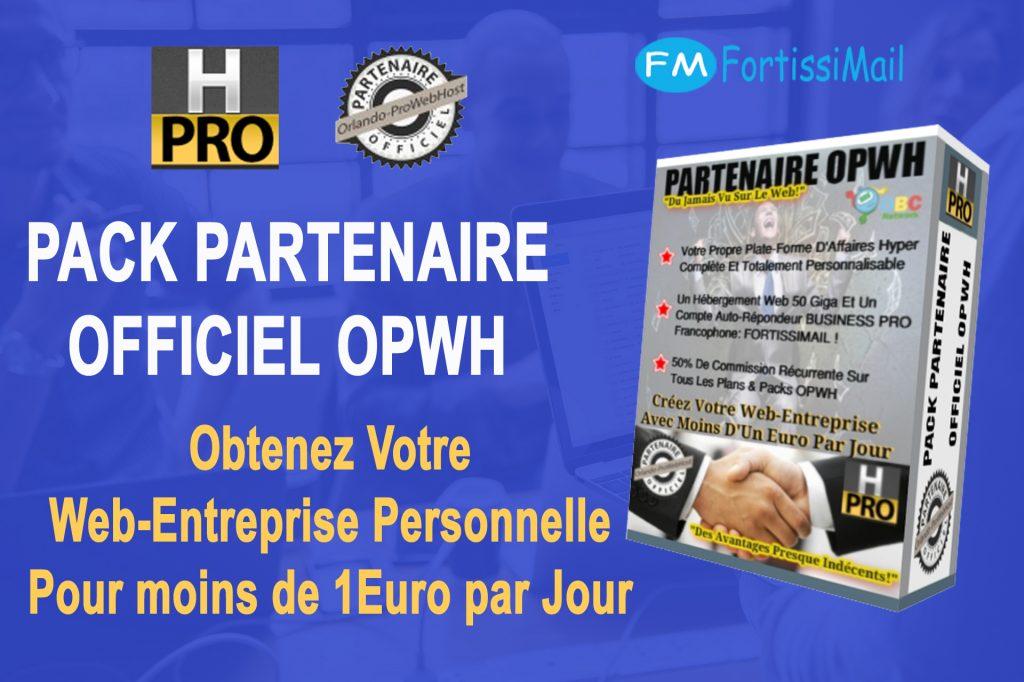 Obtenez Tout suite Votre Pack Partenaire OPWH A - 50 % ! - Betty Bettinelli, Hébergements Web Professionnels